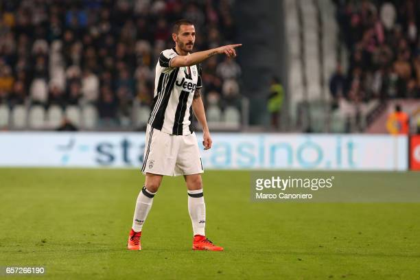 Leonardo Bonucci of Juventus Fc during the Serie A match between Juventus FC and US Palermo at Juventus Stadium Juventus FC wins 41 over US Citta di...