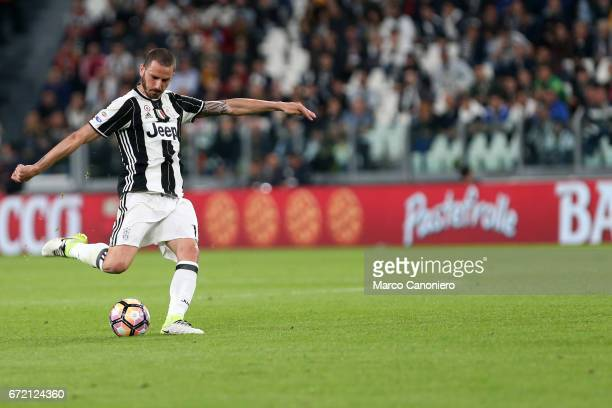 Leonardo Bonucci of Juventus FC in action during the Serie A football match between Juventus FC and Genoa Fc Juventus Fc wins 40 over Genoa Fc