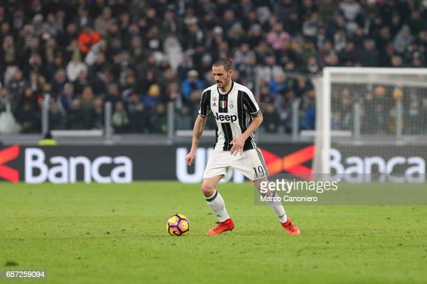 Leonardo Bonucci of Juventus Fc in action during the TIM Cup semifinal first leg football match between Juventus FC and SSC Napoli Juventus FC wins...