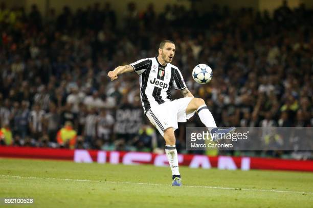 Leonardo Bonucci of Juventus FC in action during the UEFA Champions League final match between Juventus FC and Real Madrid CF Real Madrid beat...