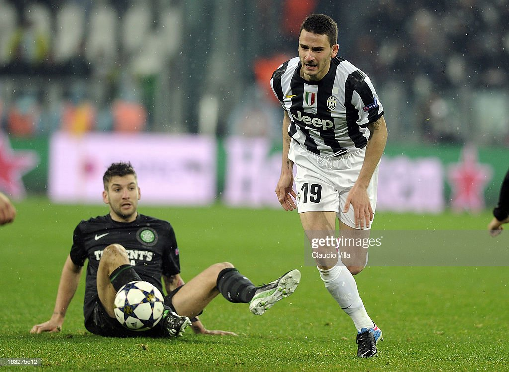 Leonardo Bonucci of Juventus #19 in action during the Champions League round of 16 second leg match between Juventus and Celtic at Juventus Arena on March 6, 2013 in Turin, Italy.