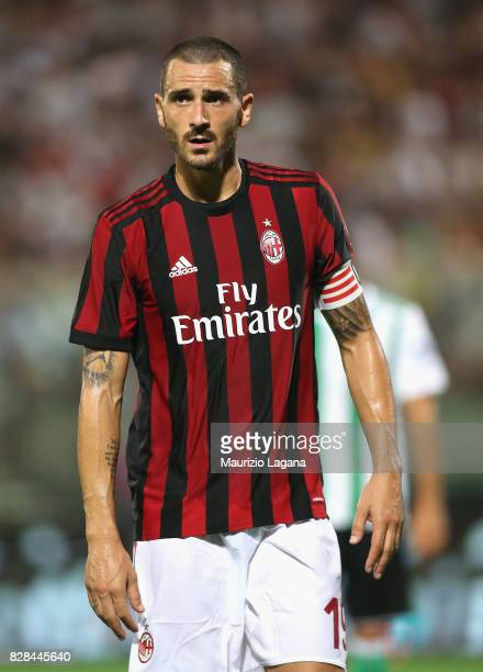 Leonardo Bonucci of Milan during the PreSeason Friendly match between AC Milan and Villareal at Stadio Angelo Massimino on August 9 2017 in Catania...
