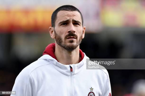 Leonardo Bonucci of Milan during the Serie A match between Benevento and Milan at Ciro Vigorito Stadium Benevento Italy on 3 December 2017