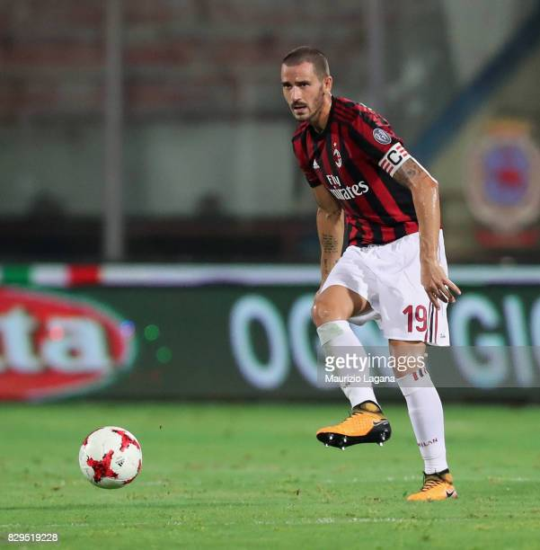 Leonardo Bonucci of Millan during the PreSeason Friendly match between AC Milan and Villareal at Stadio Angelo Massimino on August 9 2017 in Catania...