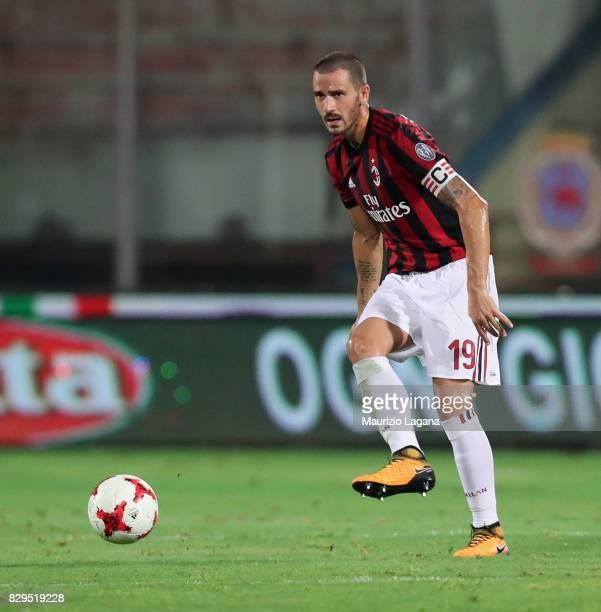 Leonardo Bonucci of Millan during the PreSeason Friendly match between AC Milan and Villareal at Stadio Angelo Massimino on August 9 2017 in Catania...
