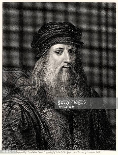 'Leonardo da Vinci' 19th century Leonardo da Vinci Italian artist engineer scientist and inventor whose drawings featured ideas such as a spinning...