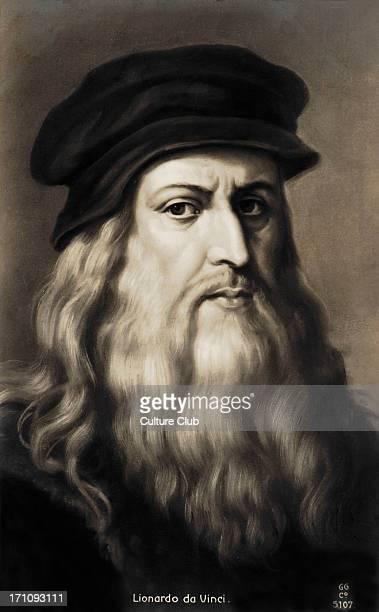 Leonardo da Vinci self portrait of the Italian Renaissance painter sculptor writer scientist architect and engineer 14521519