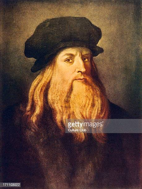 Leonardo da Vinci self portrait of the Italian Renaissance painter sculptor writer scientist architect and engineer 14521519