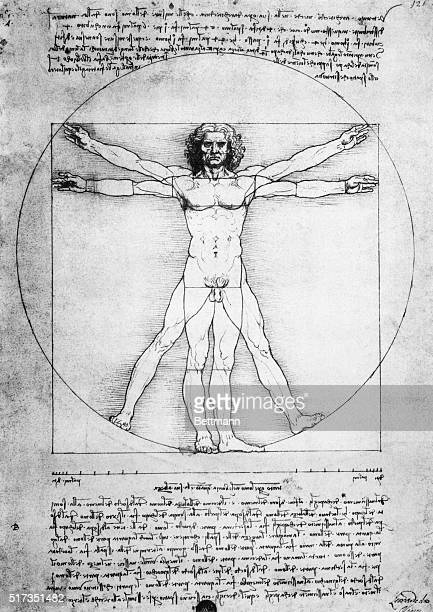 The proportions of man Manuscript illustration