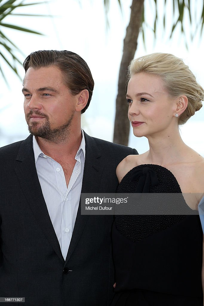<a gi-track='captionPersonalityLinkClicked' href=/galleries/search?phrase=Leonardo+DiCaprio&family=editorial&specificpeople=201635 ng-click='$event.stopPropagation()'>Leonardo DiCaprio</a> and <a gi-track='captionPersonalityLinkClicked' href=/galleries/search?phrase=Carey+Mulligan&family=editorial&specificpeople=2262681 ng-click='$event.stopPropagation()'>Carey Mulligan</a> attend 'The Great Gatsby' photocall on May 15, 2013 in Cannes, France.