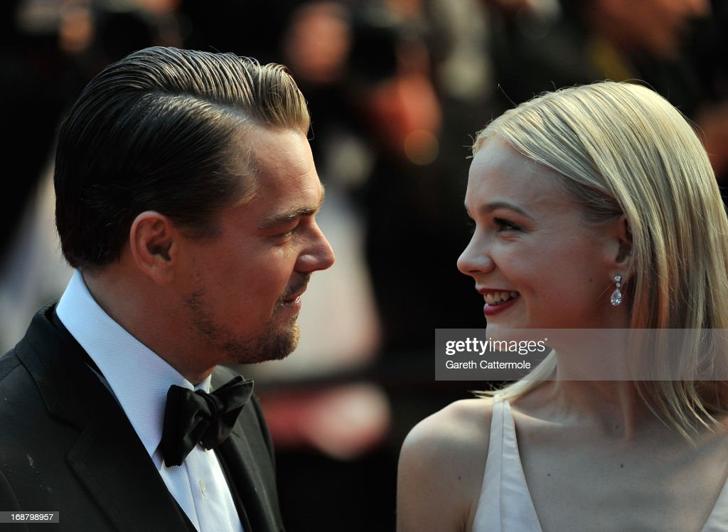 <a gi-track='captionPersonalityLinkClicked' href=/galleries/search?phrase=Leonardo+DiCaprio&family=editorial&specificpeople=201635 ng-click='$event.stopPropagation()'>Leonardo DiCaprio</a> (L) and Carey Mulligan attend the Opening Ceremony and 'The Great Gatsby' Premiere during the 66th Annual Cannes Film Festival at the Theatre Lumiere on May 15, 2013 in Cannes, France.