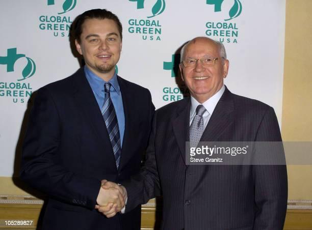 Leonardo DiCaprio and Former Soviet Premier Mikhail S Gorbachev