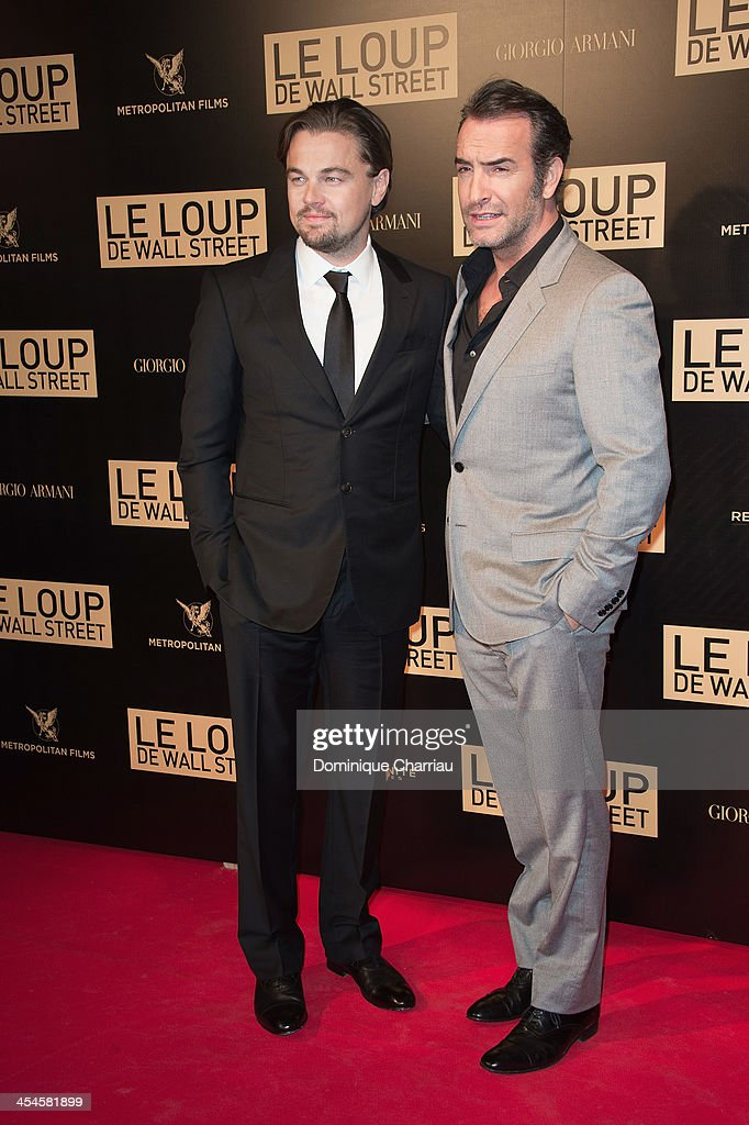 <a gi-track='captionPersonalityLinkClicked' href=/galleries/search?phrase=Leonardo+DiCaprio&family=editorial&specificpeople=201635 ng-click='$event.stopPropagation()'>Leonardo DiCaprio</a> and <a gi-track='captionPersonalityLinkClicked' href=/galleries/search?phrase=Jean+Dujardin&family=editorial&specificpeople=620972 ng-click='$event.stopPropagation()'>Jean Dujardin</a> attend the' Wolf of Wall Street' Photocall At Cinema Gaumont Opera Capucines at Cinema Gaumont Opera on December 9, 2013 in Paris, France.