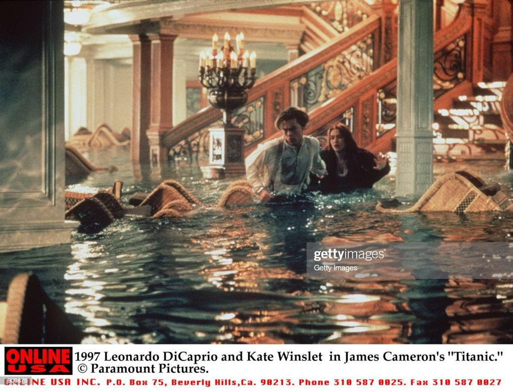 Leonardo DiCaprio and Kate Winslet in James Cameron's 'Titanic'