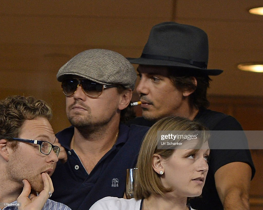 <a gi-track='captionPersonalityLinkClicked' href=/galleries/search?phrase=Leonardo+DiCaprio&family=editorial&specificpeople=201635 ng-click='$event.stopPropagation()'>Leonardo DiCaprio</a> and <a gi-track='captionPersonalityLinkClicked' href=/galleries/search?phrase=Lukas+Haas&family=editorial&specificpeople=239113 ng-click='$event.stopPropagation()'>Lukas Haas</a> attend the 2013 US Open at USTA Billie Jean King National Tennis Center on September 3, 2013 in New York City.