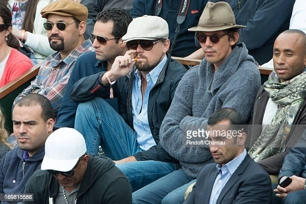 Leonardo DiCaprio and Lukas Haas sighting at the French open 2013 at Roland Garros on June 2 2013 in Paris France