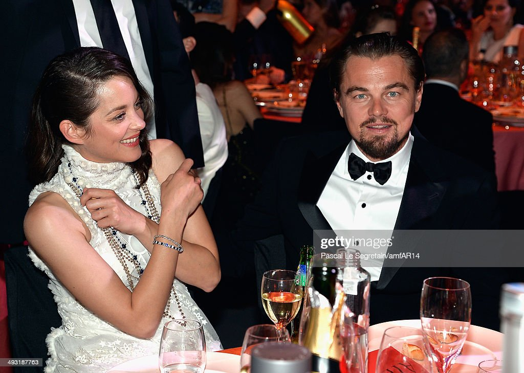 Leonardo DiCaprio and Marion Cotillard attend amfAR's 21st Cinema Against AIDS Gala Presented By WORLDVIEW BOLD FILMS And BVLGARI at Hotel du...