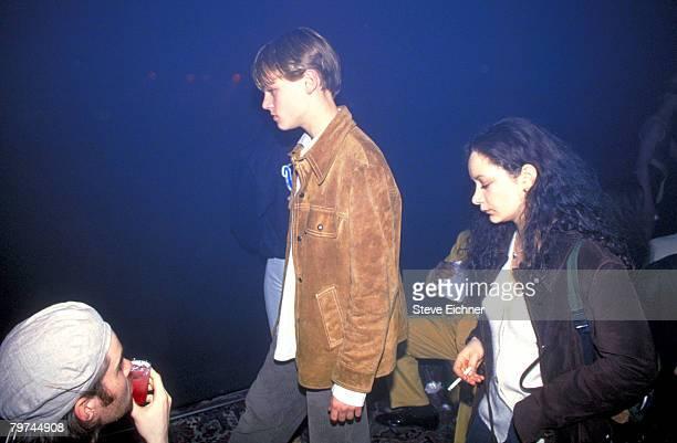 Leonardo DiCaprio and Sara Gilbert