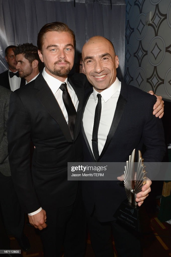 Leonardo Dicaprio (L) and Steve Warren (R) attend the 24th Annual GLAAD Media Awards at JW Marriott Los Angeles at L.A. LIVE on April 20, 2013 in Los Angeles, California.