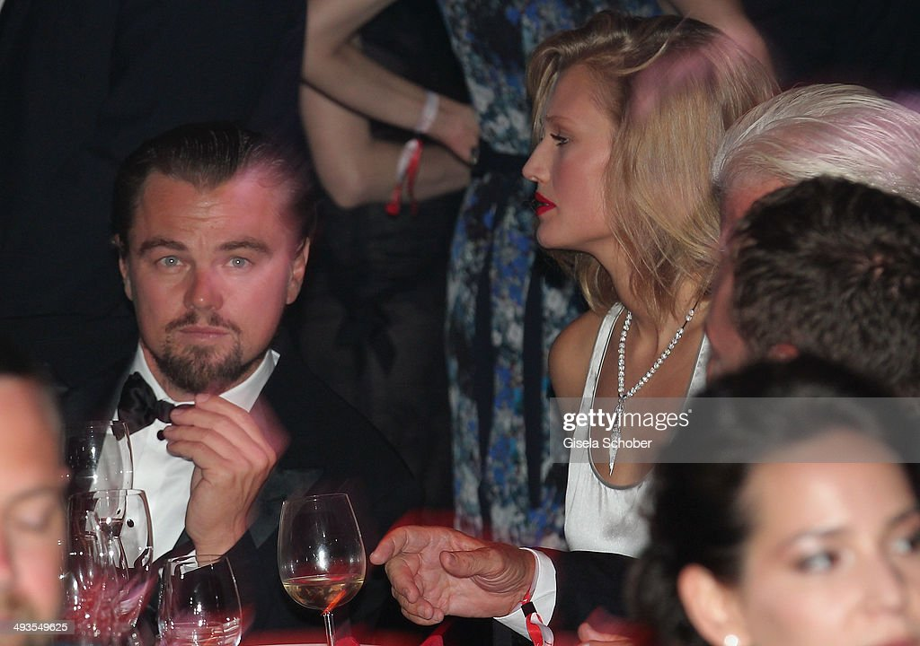 <a gi-track='captionPersonalityLinkClicked' href=/galleries/search?phrase=Leonardo+DiCaprio&family=editorial&specificpeople=201635 ng-click='$event.stopPropagation()'>Leonardo DiCaprio</a> and <a gi-track='captionPersonalityLinkClicked' href=/galleries/search?phrase=Toni+Garrn&family=editorial&specificpeople=4425236 ng-click='$event.stopPropagation()'>Toni Garrn</a> attend amfAR's 21st Cinema Against AIDS Gala Presented By WORLDVIEW, BOLD FILMS, And BVLGARI at Hotel du Cap-Eden-Roc on May 22, 2014 in Cap d'Antibes, France.