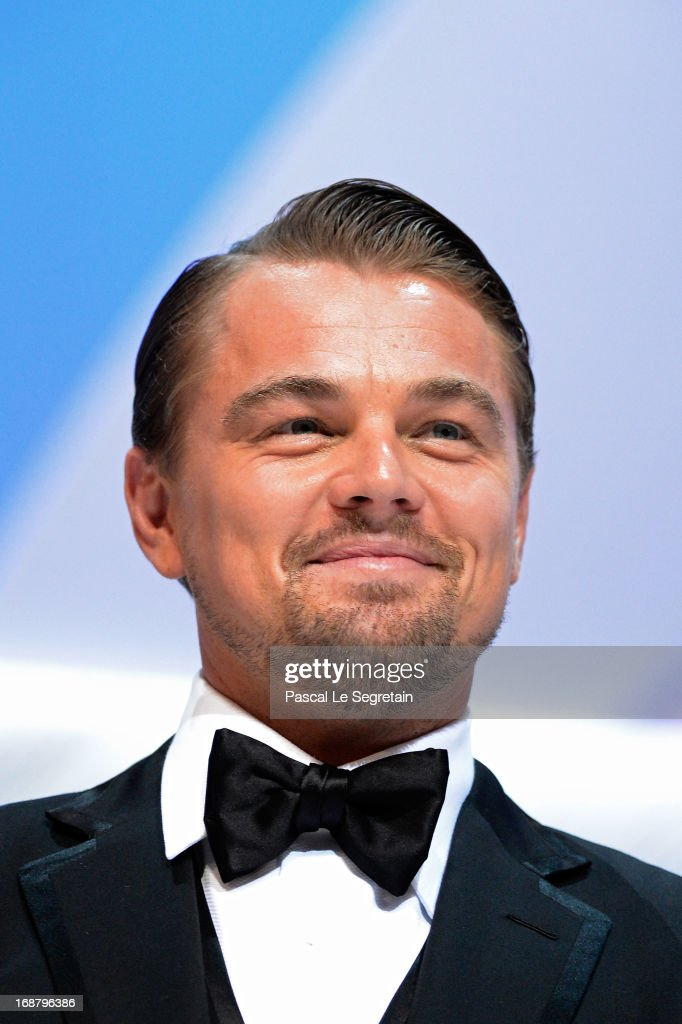 <a gi-track='captionPersonalityLinkClicked' href=/galleries/search?phrase=Leonardo+DiCaprio&family=editorial&specificpeople=201635 ng-click='$event.stopPropagation()'>Leonardo DiCaprio</a> appears on stage during the Opening Ceremony of the 66th Annual Cannes Film Festival at the Palais des Festivals on May 15, 2013 in Cannes, France.