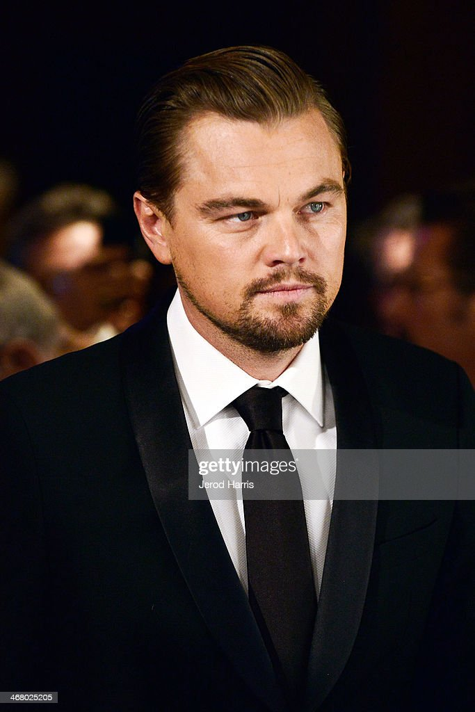 Leonardo Dicaprio arrives at the 18th Annual Art Directors Guild Excellence in Production Design Awards at The Beverly Hilton Hotel on February 8, 2014 in Beverly Hills, California.