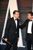Leonardo DiCaprio arrives to the Vanity Fair Party following his win as best actor in the 88th Academy Awards at The Wallis Annenberg Center for the...