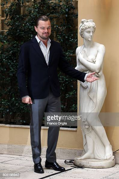 Leonardo DiCaprio attends a photocall for 'The Revenant' on January 16 2016 in Rome Italy