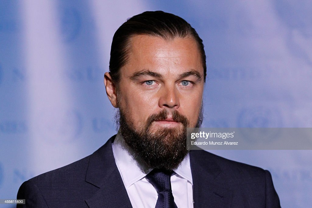 <a gi-track='captionPersonalityLinkClicked' href=/galleries/search?phrase=Leonardo+DiCaprio&family=editorial&specificpeople=201635 ng-click='$event.stopPropagation()'>Leonardo DiCaprio</a> attends an event for being named UN Messenger Of Peace at the United Nations on September 20, 2014 in New York, New York.