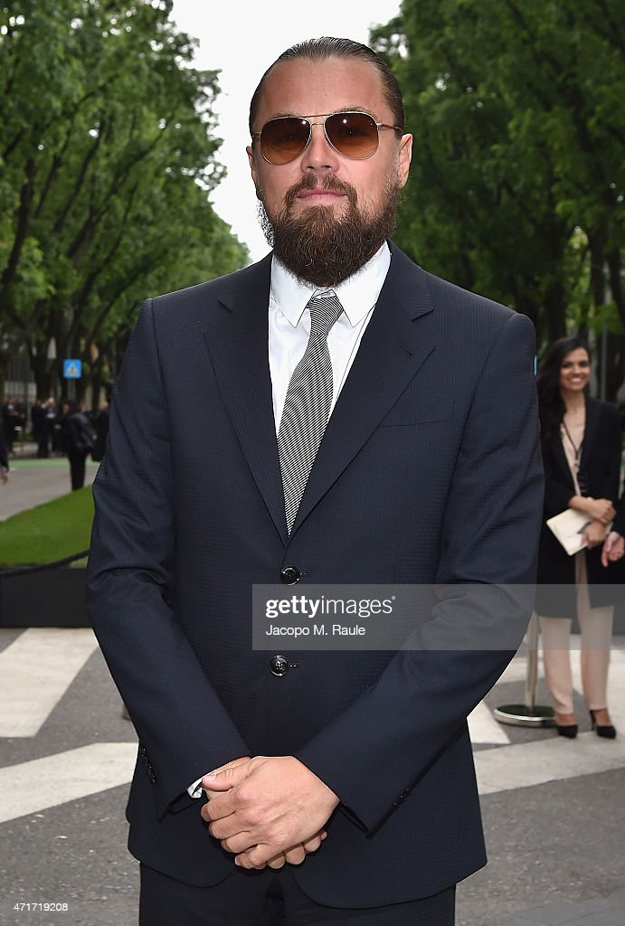 <a gi-track='captionPersonalityLinkClicked' href=/galleries/search?phrase=Leonardo+DiCaprio&family=editorial&specificpeople=201635 ng-click='$event.stopPropagation()'>Leonardo DiCaprio</a> attends the Giorgio Armani 40th Anniversary Silos Opening And Cocktail Reception on April 30, 2015 in Milan, Italy.