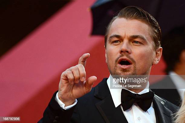 Leonardo DiCaprio attends the Opening Ceremony and 'The Great Gatsby' Premiere during the 66th Annual Cannes Film Festival at the Theatre Lumiere on...