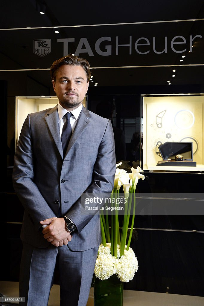 <a gi-track='captionPersonalityLinkClicked' href=/galleries/search?phrase=Leonardo+DiCaprio&family=editorial&specificpeople=201635 ng-click='$event.stopPropagation()'>Leonardo DiCaprio</a> attends the Opening of the TAG Heuer New Boutique, Followed By An Evening Celebrating 50 years of Carerra In Pavillon Vendome on November 6, 2013 in Paris, France.