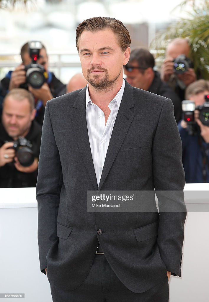 <a gi-track='captionPersonalityLinkClicked' href=/galleries/search?phrase=Leonardo+DiCaprio&family=editorial&specificpeople=201635 ng-click='$event.stopPropagation()'>Leonardo DiCaprio</a> attends the photocall for 'The Great Gatsby' at The 66th Annual Cannes Film Festiva at Palais des Festivals on May 15, 2013 in Cannes, France.