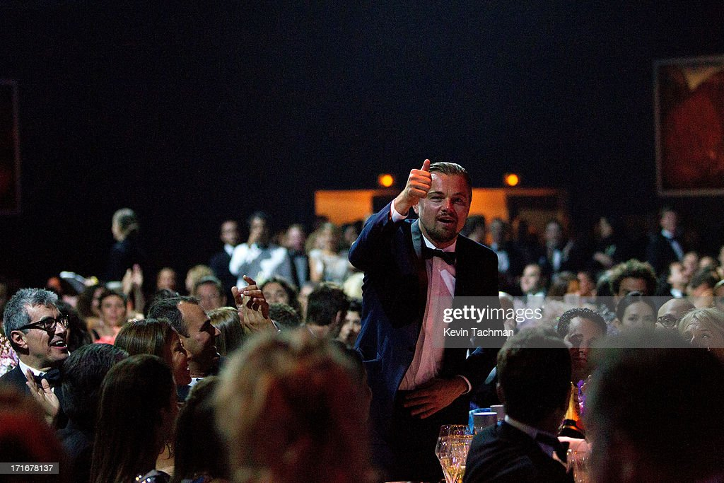 Leonardo DiCaprio attends the show for amfAR's 20th Annual Cinema Against AIDS at Hotel du Cap-Eden-Roc on May 23, 2013 in Cap d'Antibes, France.