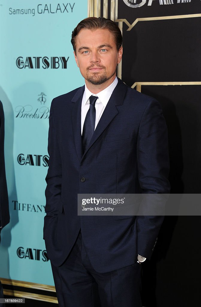 <a gi-track='captionPersonalityLinkClicked' href=/galleries/search?phrase=Leonardo+DiCaprio&family=editorial&specificpeople=201635 ng-click='$event.stopPropagation()'>Leonardo DiCaprio</a> attends the 'The Great Gatsby' world premiere at Avery Fisher Hall at Lincoln Center for the Performing Arts on May 1, 2013 in New York City.
