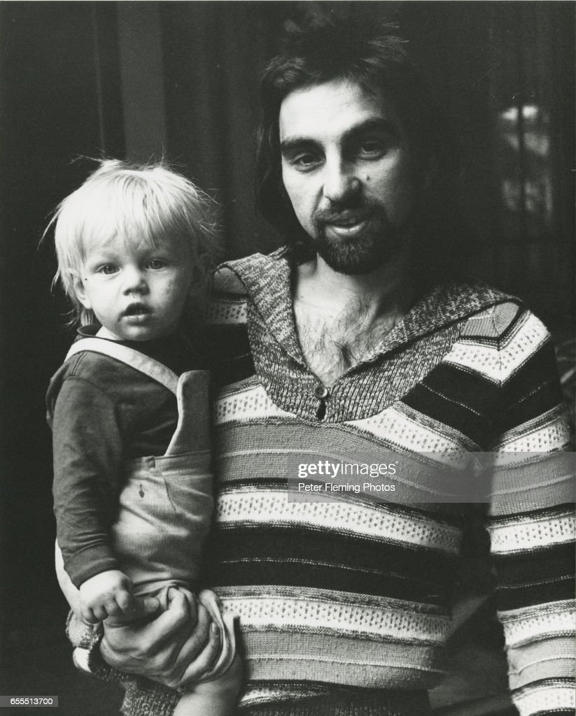 Los Angeles July 1975 Leonardo DiCaprio being held by his father George DiCaprio outside their home in Hollywood California