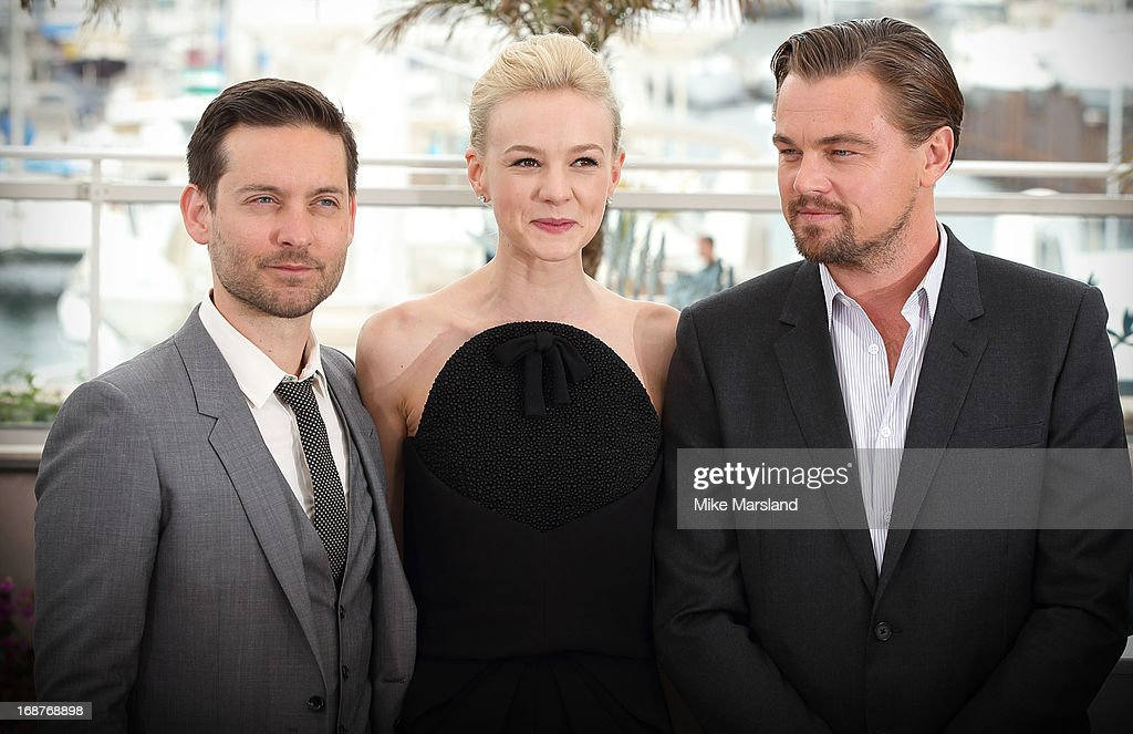 <a gi-track='captionPersonalityLinkClicked' href=/galleries/search?phrase=Leonardo+DiCaprio&family=editorial&specificpeople=201635 ng-click='$event.stopPropagation()'>Leonardo DiCaprio</a>, <a gi-track='captionPersonalityLinkClicked' href=/galleries/search?phrase=Carey+Mulligan&family=editorial&specificpeople=2262681 ng-click='$event.stopPropagation()'>Carey Mulligan</a> and Tobey Maguir attend the photocall for 'The Great Gatsby' at The 66th Annual Cannes Film Festiva at Palais des Festivals on May 15, 2013 in Cannes, France.