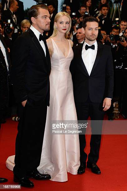 Leonardo DiCaprio Carey Mulligan and Tobey Maguire attend the Opening Ceremony and 'The Great Gatsby' Premiere during the 66th Annual Cannes Film...