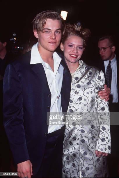 Leonardo DiCaprio Claire Danes at the Mann Chinese Theatre in Los Angeles California