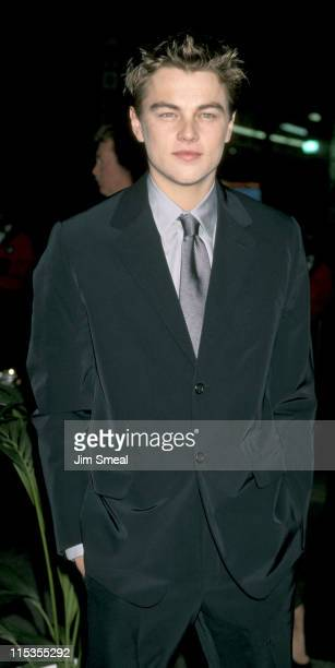 Leonardo DiCaprio during 'Titanic' Los Angeles Premiere 1997 at Mann Chinese Theatre in Hollywood California United States