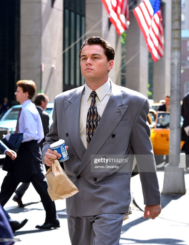 leonardo-dicaprio-filming-on-location-for-the-wolf-of-wall-street-on-picture-id150742993