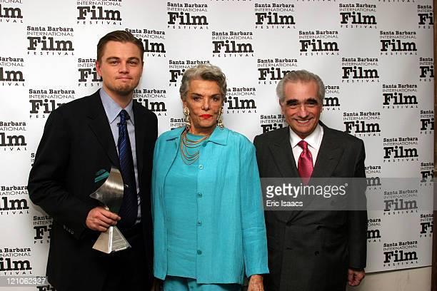 Leonardo DiCaprio Jane Russell and Martin Scorsese