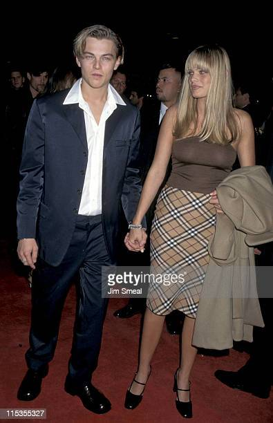 Leonardo DiCaprio Kristy Zang during 'Romeo Juliet' Los Angeles Premiere at Mann Chinese Theatre in Los Angeles California United States