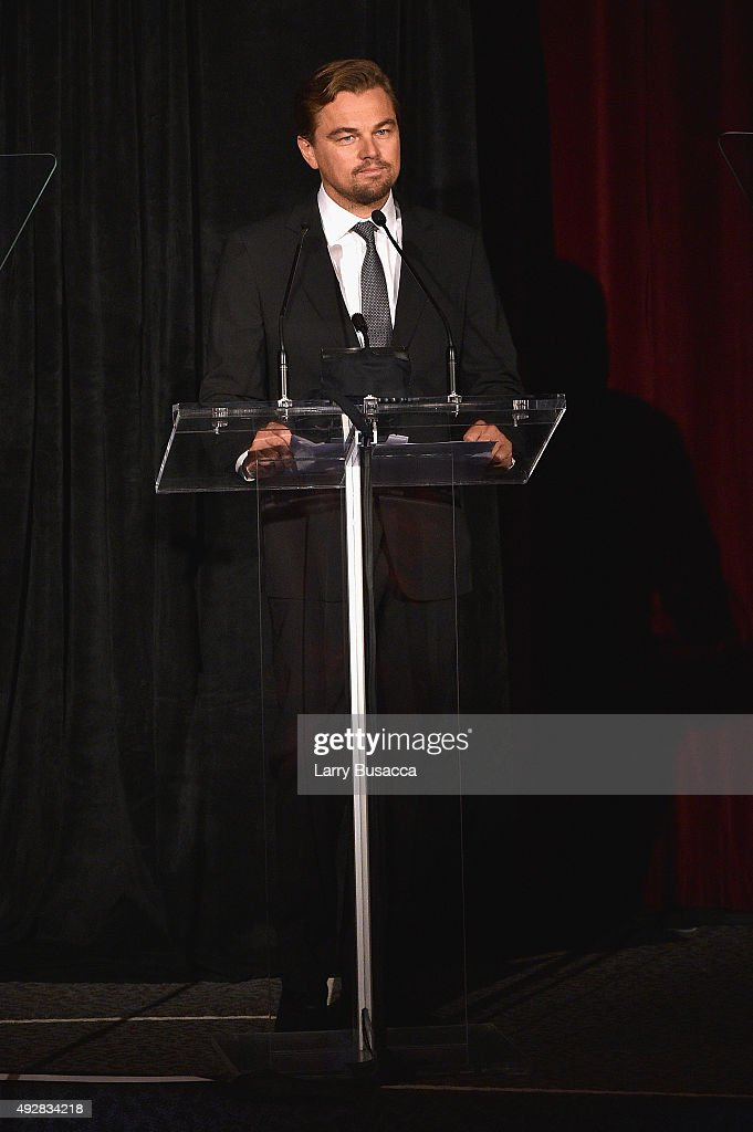 Leonardo DiCaprio speaks onstage at the DGA Honors 2015 Gala on October 15, 2015 in New York City.