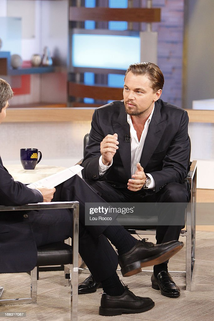 AMERICA - Leonardo DiCaprio talks about the new film, 'The Great Gatsby,' on 'Good Morning America,' 5/8/13, airing on the ABC Television Network. (Photo by Lou Rocco/ABC via Getty Images) GEORGE