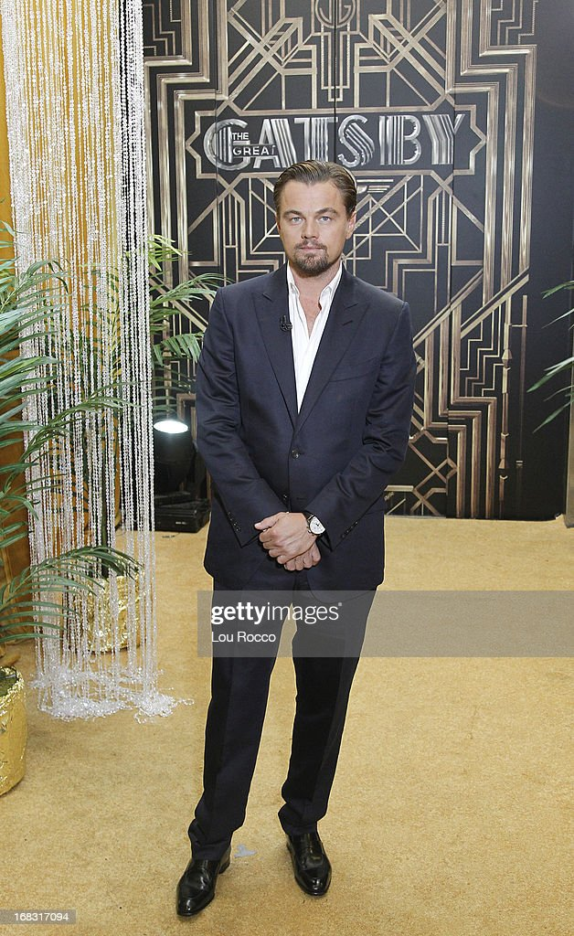 AMERICA - Leonardo DiCaprio talks about the new film, 'The Great Gatsby,' on 'Good Morning America,' 5/8/13, airing on the ABC Television Network. (Photo by Lou Rocco/ABC via Getty Images) LEONARDO DICAPRIO