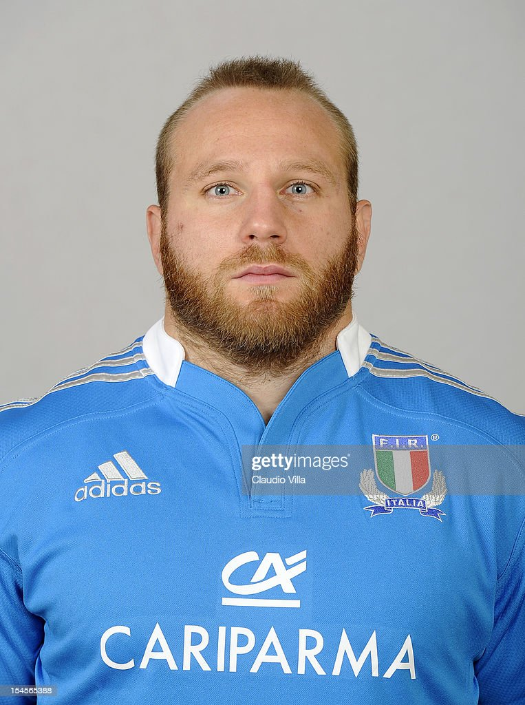 <a gi-track='captionPersonalityLinkClicked' href=/galleries/search?phrase=Leonardo+Ghiraldini&family=editorial&specificpeople=4505425 ng-click='$event.stopPropagation()'>Leonardo Ghiraldini</a> poses during a Italy Rugby Union player portrait session on October 22, 2012 in Rome, Italy.