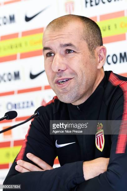 Leonardo Jardim coach of Monaco during press conference of As Monaco on August 11 2017 in Monaco Monaco