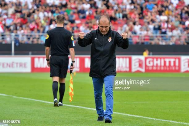 Leonardo Jardim coach of Monaco during the Ligue 1 match between Dijon FCO and AS Monaco at Stade Gaston Gerard on August 13 2017 in Dijon