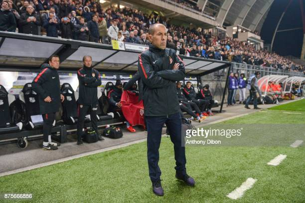 Leonardo Jardim coach of Monaco during the Ligue 1 match between Amiens SC and AS Monaco at Stade de la Licorne on November 17 2017 in Amiens